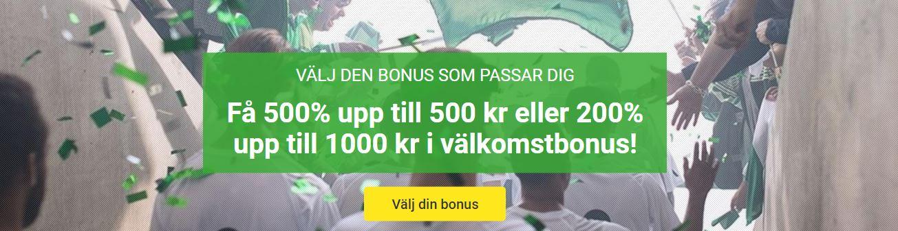 bonus hos unibet